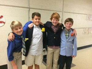 These are a few boys that dressed up as ushers for the Q and U wedding!
